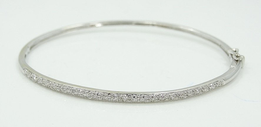 14K Bracelet W/0.50ctw Pave-Set Diamonds