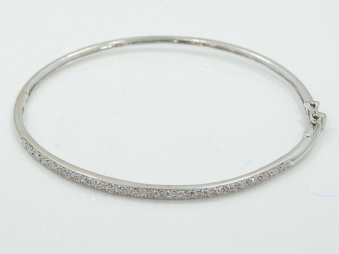 14K Bracelet W/0.50ctw Pave-Set Diamonds - 2
