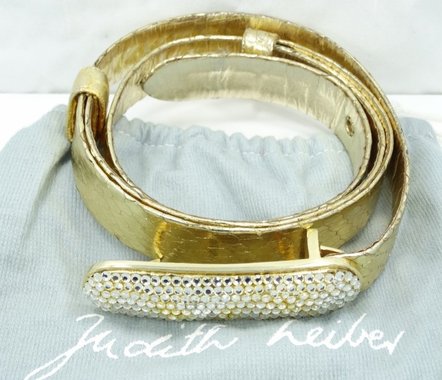 Judith Leiber Couture Swarovski Fashion Belt