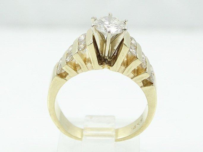 1.35ctw VS2-SI1/G Diamond & 14K Ring (3/4 Center) - 2