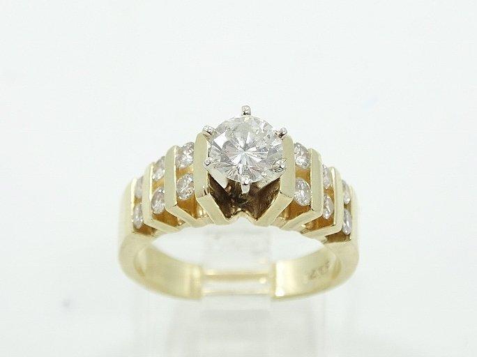 1.35ctw VS2-SI1/G Diamond & 14K Ring (3/4 Center) - 3