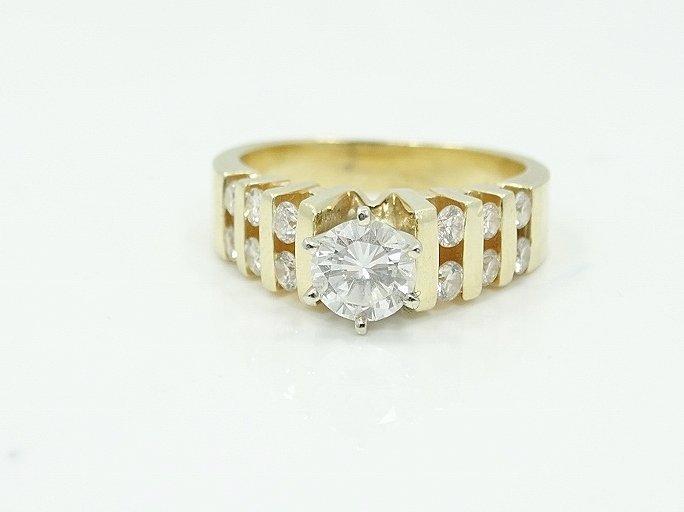 1.35ctw VS2-SI1/G Diamond & 14K Ring (3/4 Center) - 5