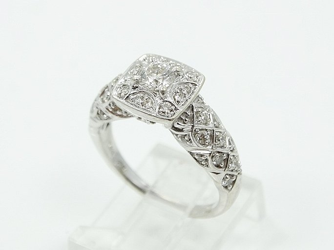 1ctw VS1-VS2/G-H Diamond & 14K Ring W/Lattice
