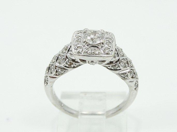 1ctw VS1-VS2/G-H Diamond & 14K Ring W/Lattice - 2