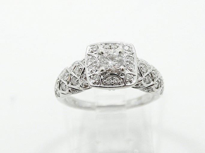 1ctw VS1-VS2/G-H Diamond & 14K Ring W/Lattice - 3