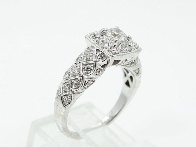 1ctw VS1-VS2/G-H Diamond & 14K Ring W/Lattice - 4