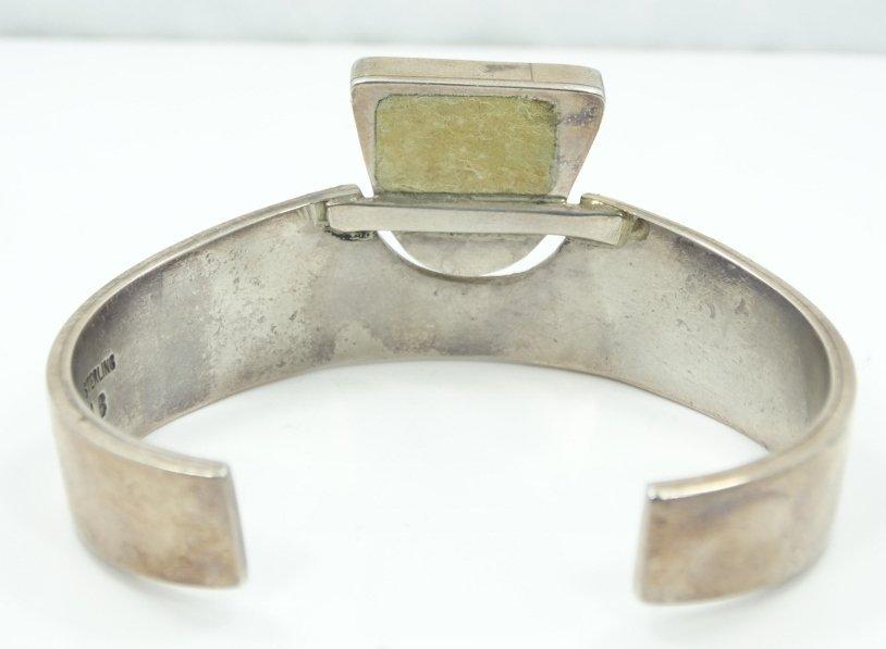 Navajo Solid .925 Silver 3-D Cuff Bracelet - 5