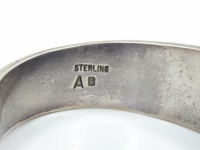 Navajo Solid .925 Silver 3-D Cuff Bracelet - 6