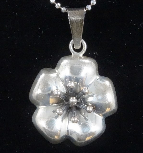.925 Silver High-Relief Pendant on Popcorn Chain - 2