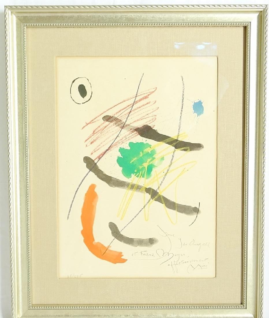 Joan Miro Color Etching Gift to: Chagall Estate