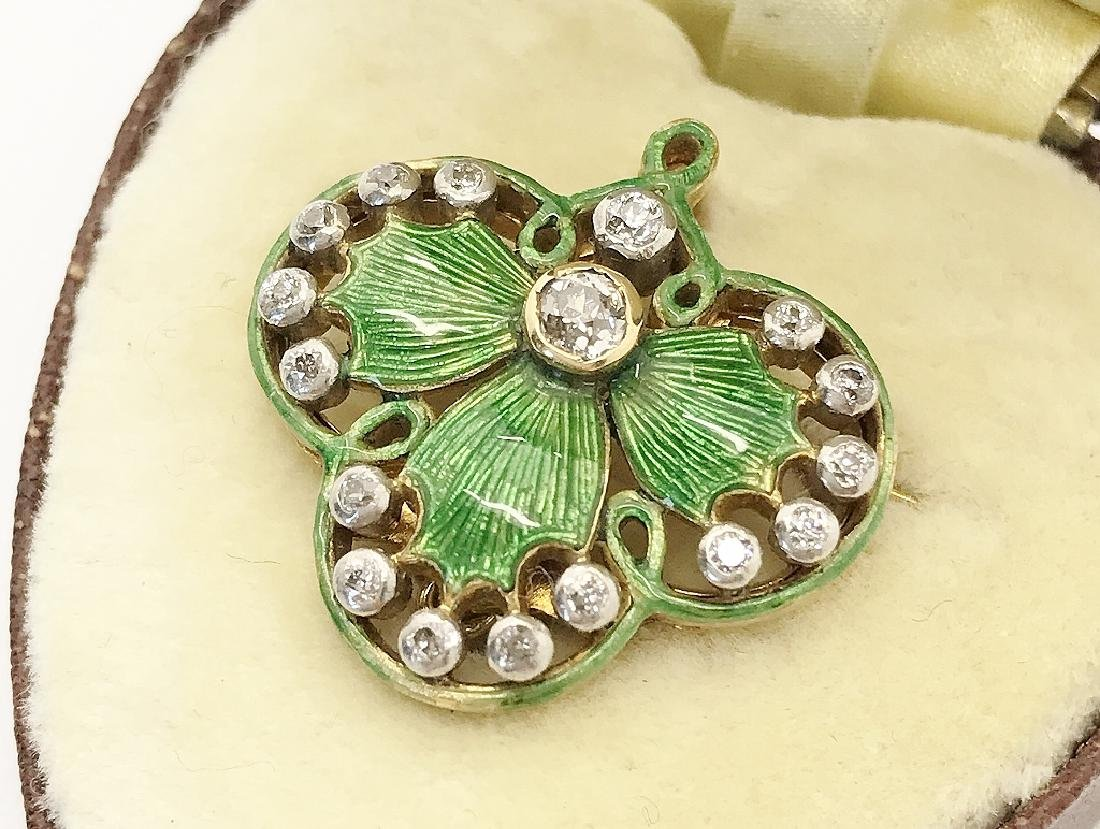 1910's Neo-Russian Two-Piece 18K Brooch/Pendant