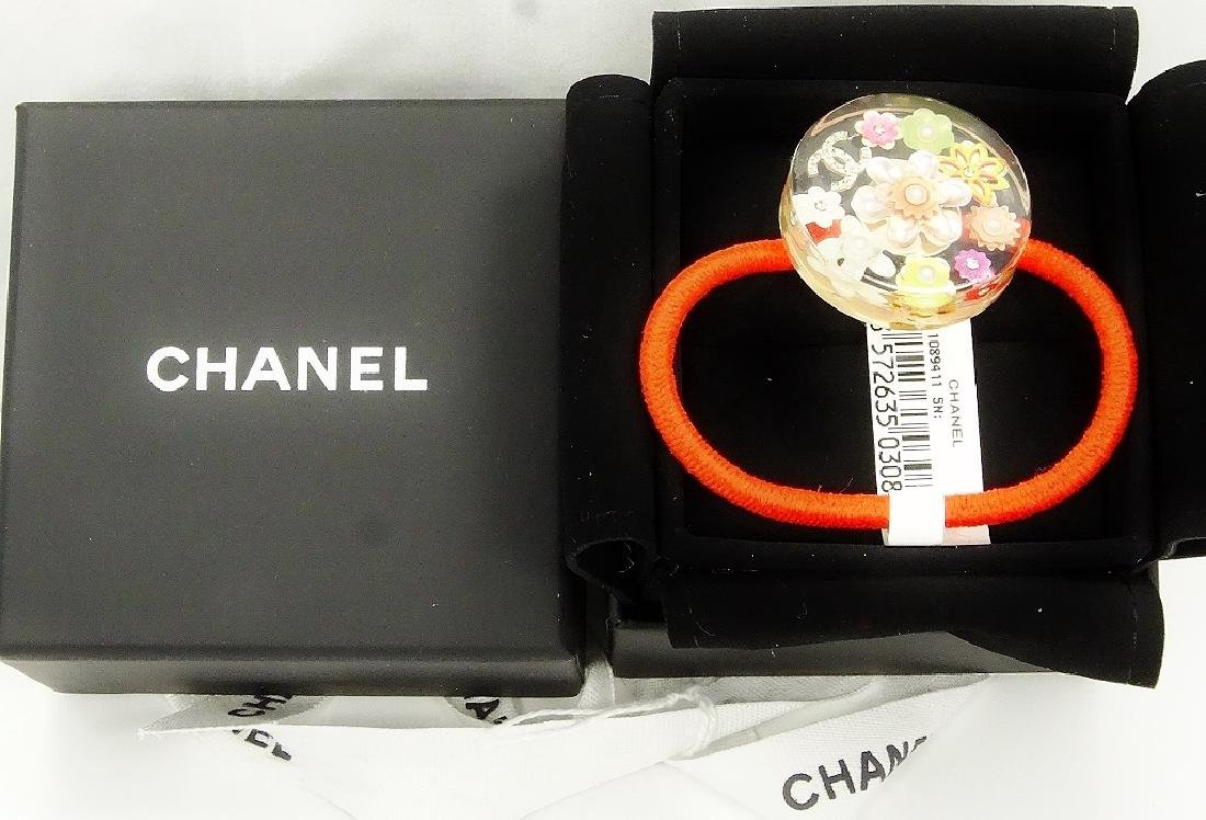 Chanel France Hair Tie W/Gold & Platinum (ONLY 2)