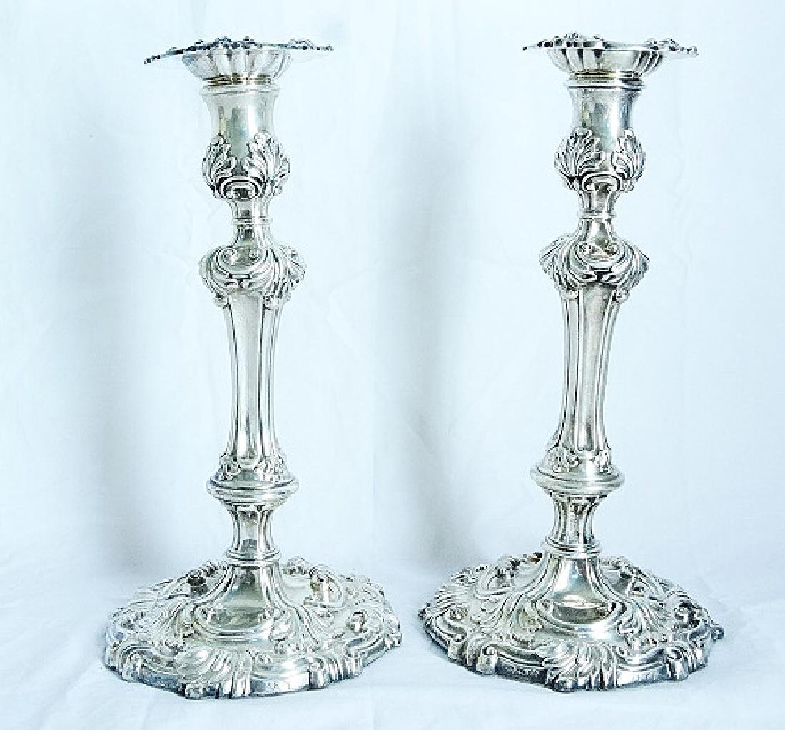 English George III Sterling Silver Candlesticks