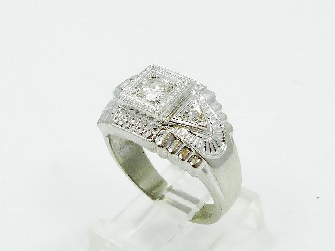 0.35ctw VS2-SI1/G-H Diamond & 14K WG 13mm Ring