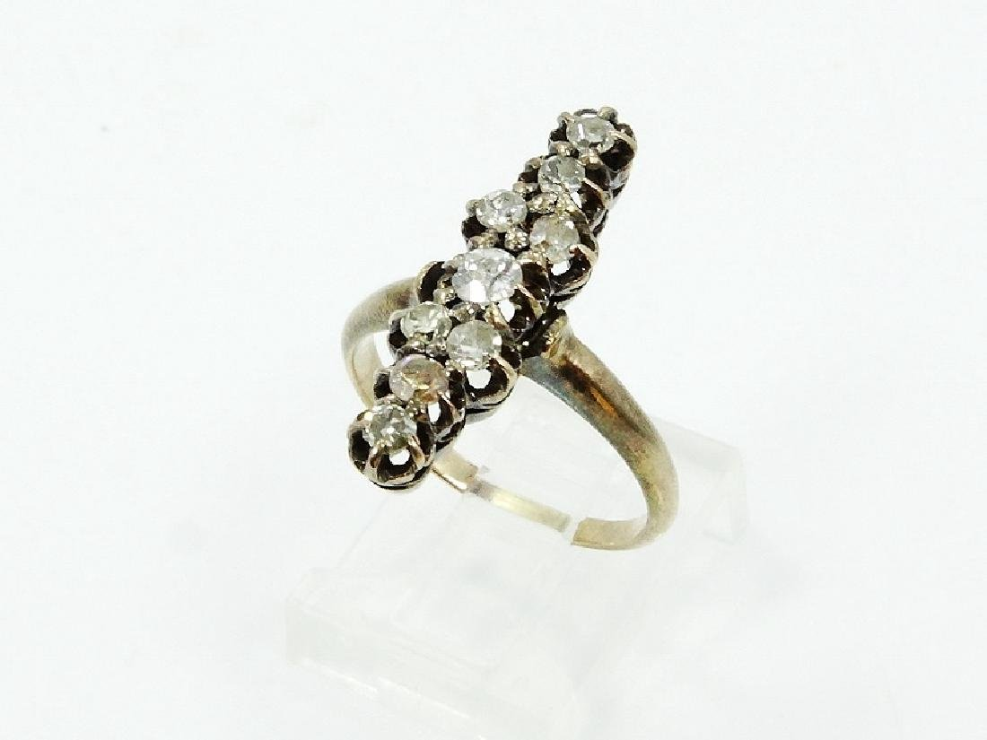 1930's 0.80ctw European-Cut Diam. & 8K YG Ring