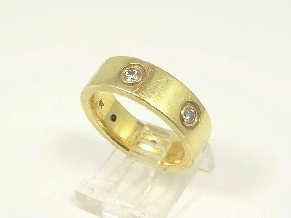 Cartier Style 18K Yellow Gold & 0.60CTW Diam. Ring