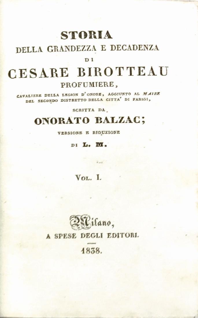 ONORATO BALZAC (sic) Storia della Grandezza e della