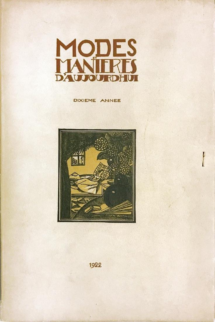 F. SIMÉON MODES ET MANIERES Dixième année 1922