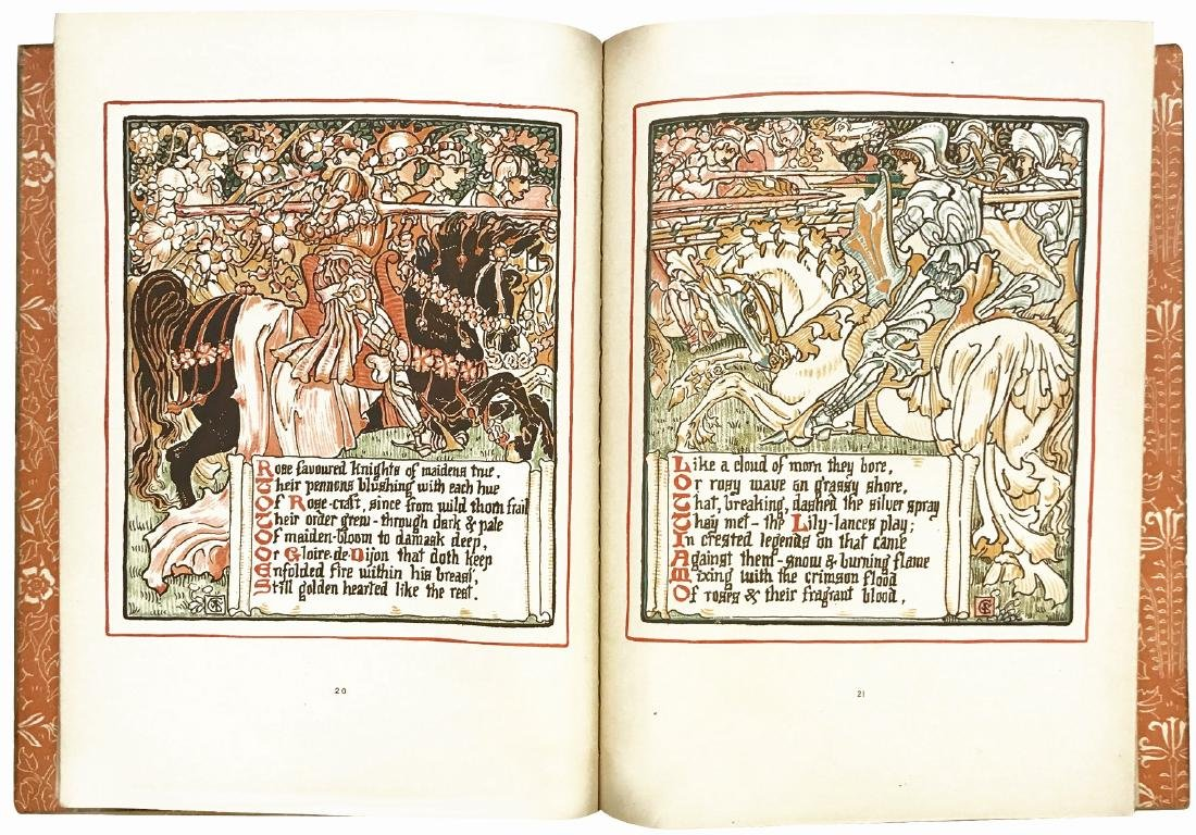 WALTER CRANE  Queen Summer: or The Journey of the Lily