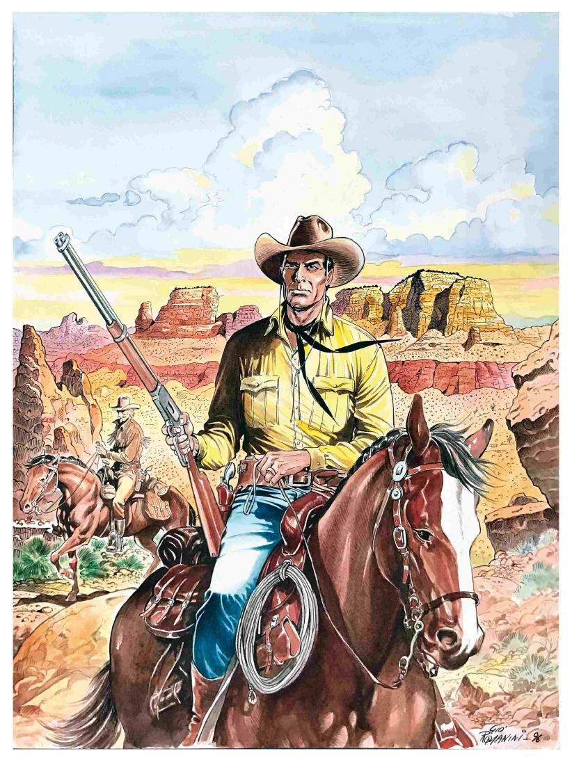 GIOVANNI ROMANINI  -  Tex e Carson in esplorazione