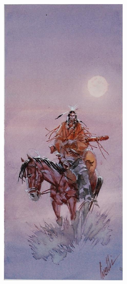 SERGIO TISSELLI  -  Indiano a cavallo