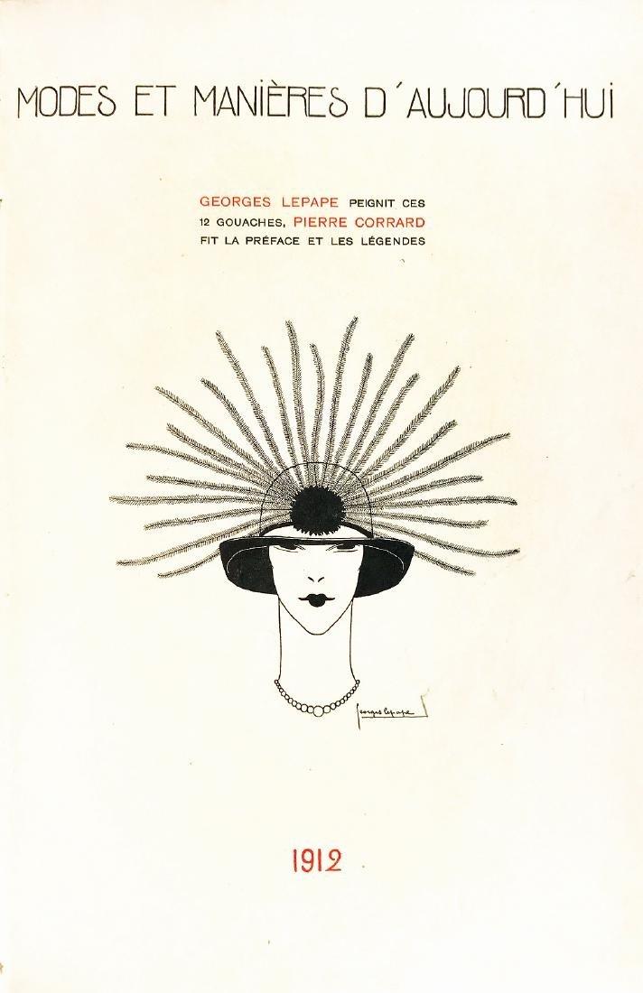 LEPAPE  -  Modes et Manières 1912. With original art.