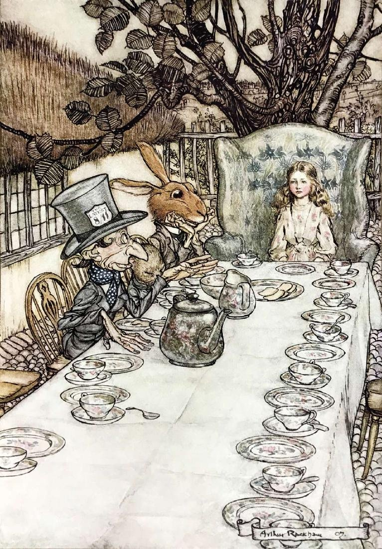 ARTHUR RACKHAM  -  Alice Adventures in Wonderland