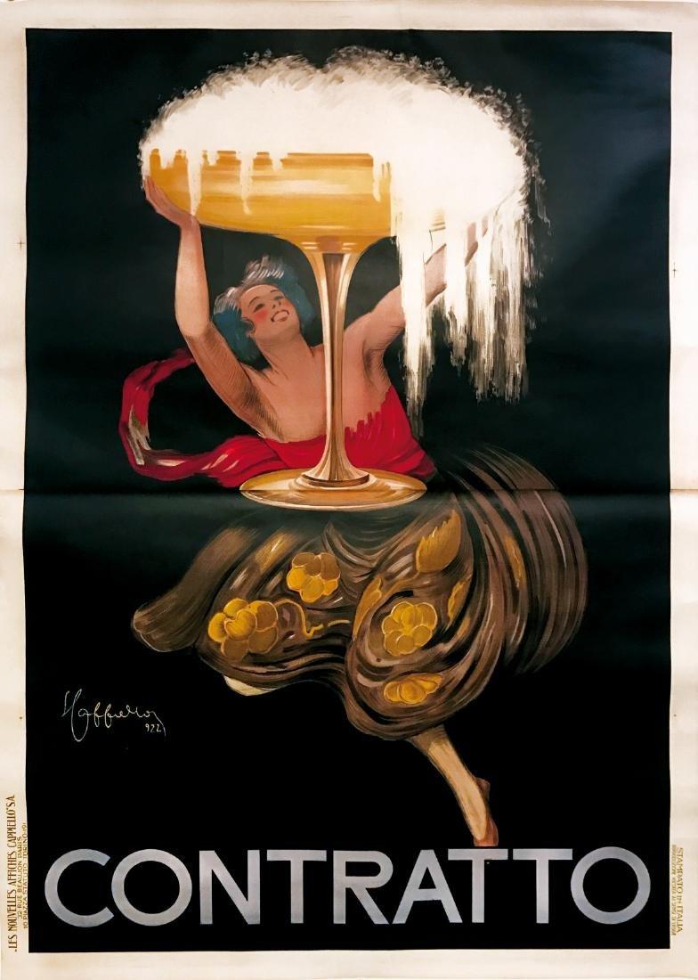 L. CAPPIELLO  -  Contratto 1922 litho poster