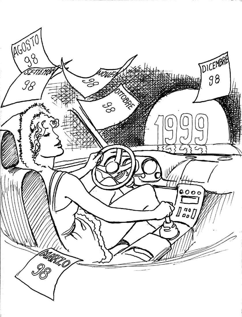MILO MANARA  -  Illustrazione per calendario 1999