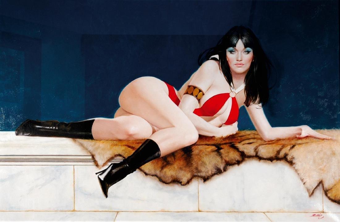 TORRES PRAT - Vampirella painting
