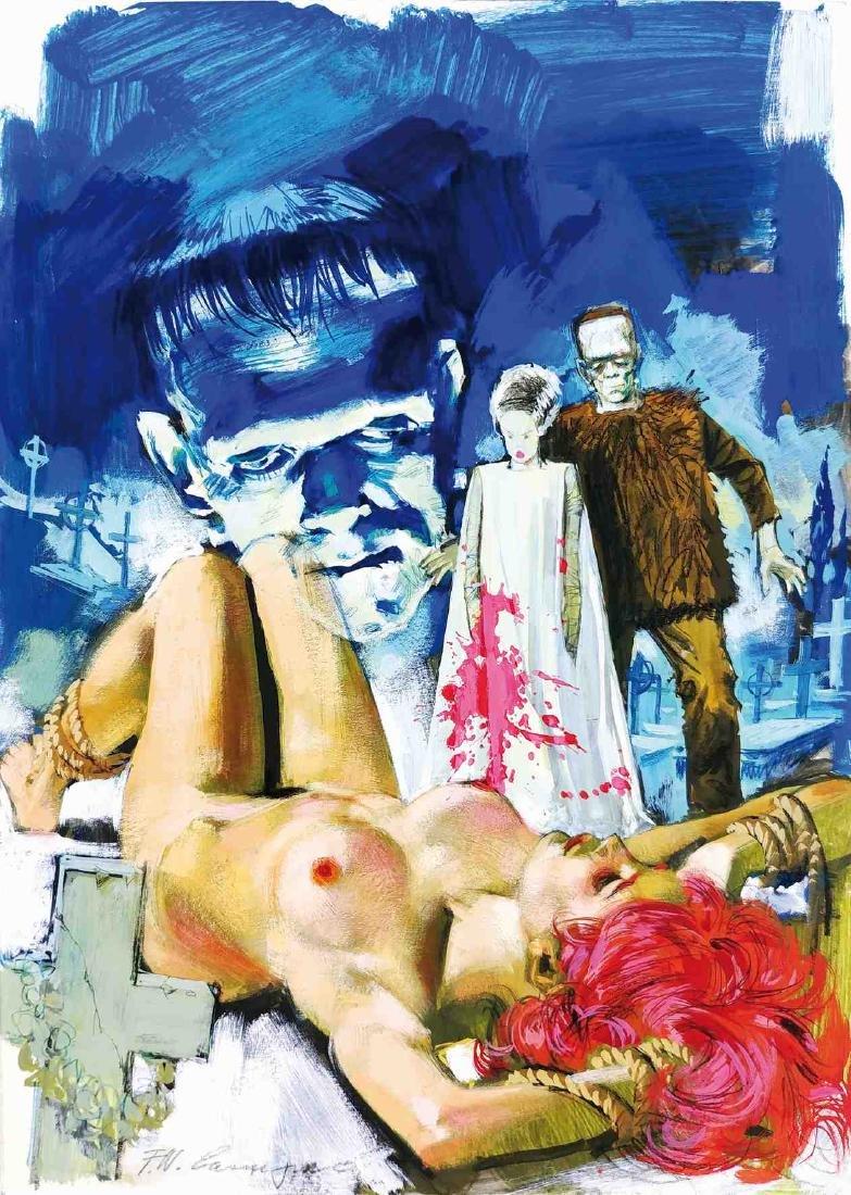 FERDINANDO CARCUPINO  -  Frankenstein I Due Mostri