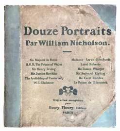 WILLIAM NICHOLSON (1872-1949)  -  Douze Portraits