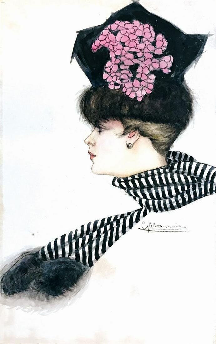 GIOVANNI NANNI  -  Ritratto di Donna con Sciarpa