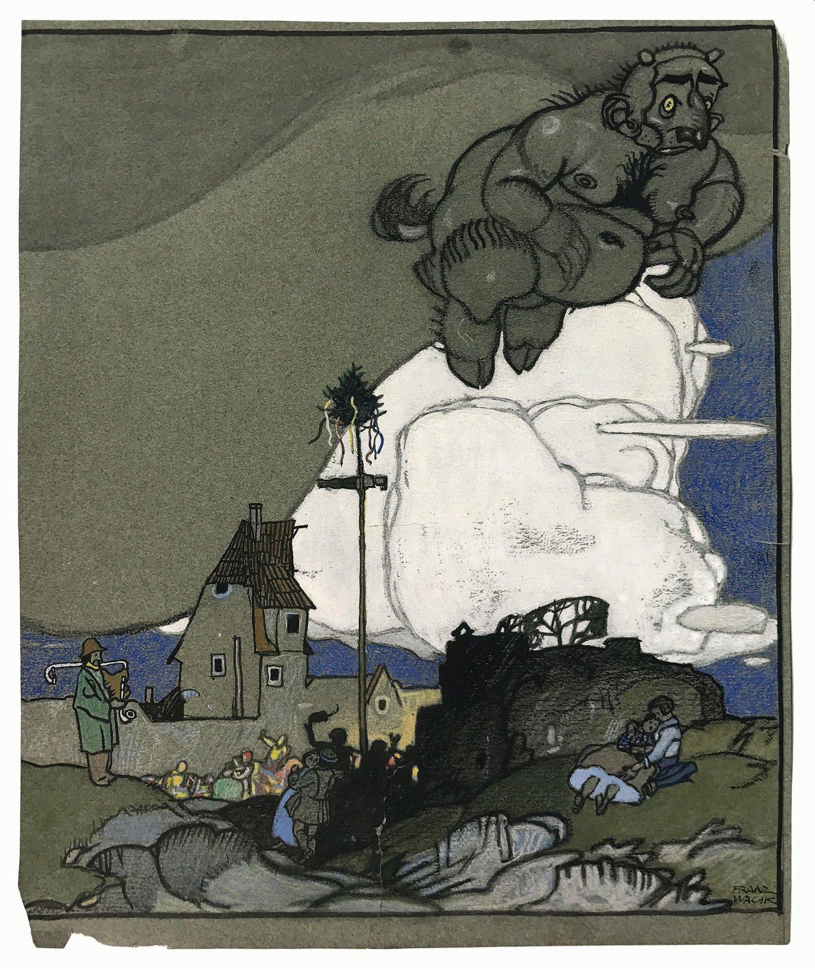 FRANZ WACIK (1883-1938)  -  Der Teufel