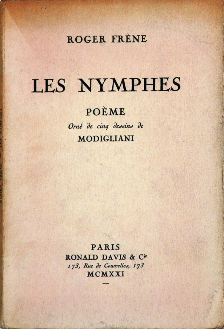 8: AMEDEO MODIGLIANI  Les Nymphes