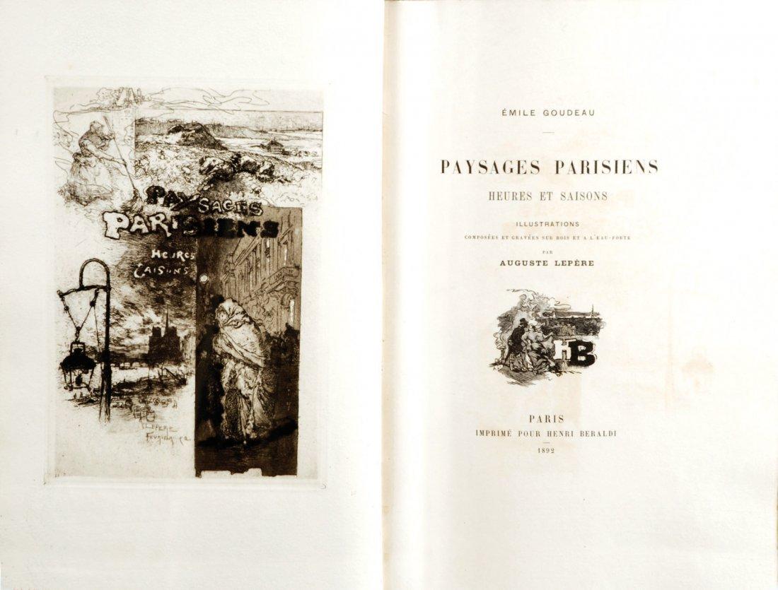Auguste Lepère Paysages parisiens - Heures et saisons