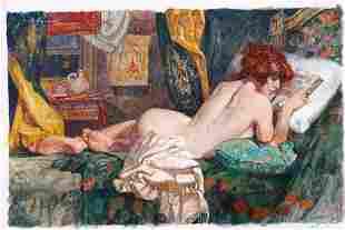 Alessandro Biffignandi Ritratto di donna che legge