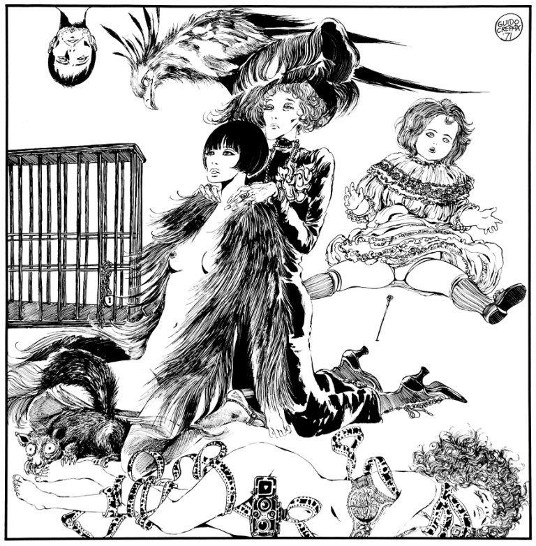 Guido Crepax Illustrazione Baba Yaga