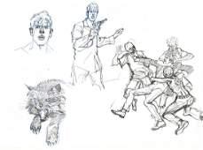 Angelo Stano Dylan Dog - Studi per le copertine dei nu