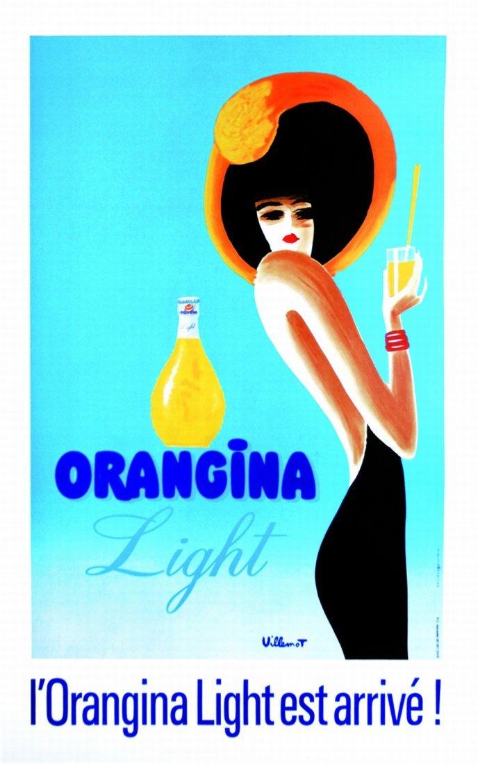 Bernard Villemot Orangina light - l'Orangina light est