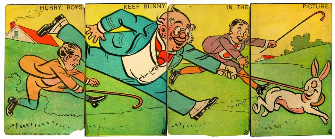 Cartoline comics - Hurry, boys, keep Bunny in the