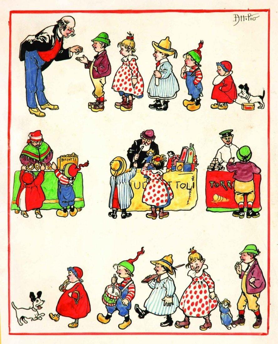 Attilio Mussino  - Illustrazione per la Domenica dei