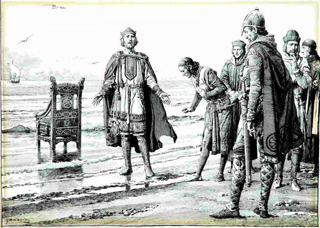 Fortunino Matania  - King Canute