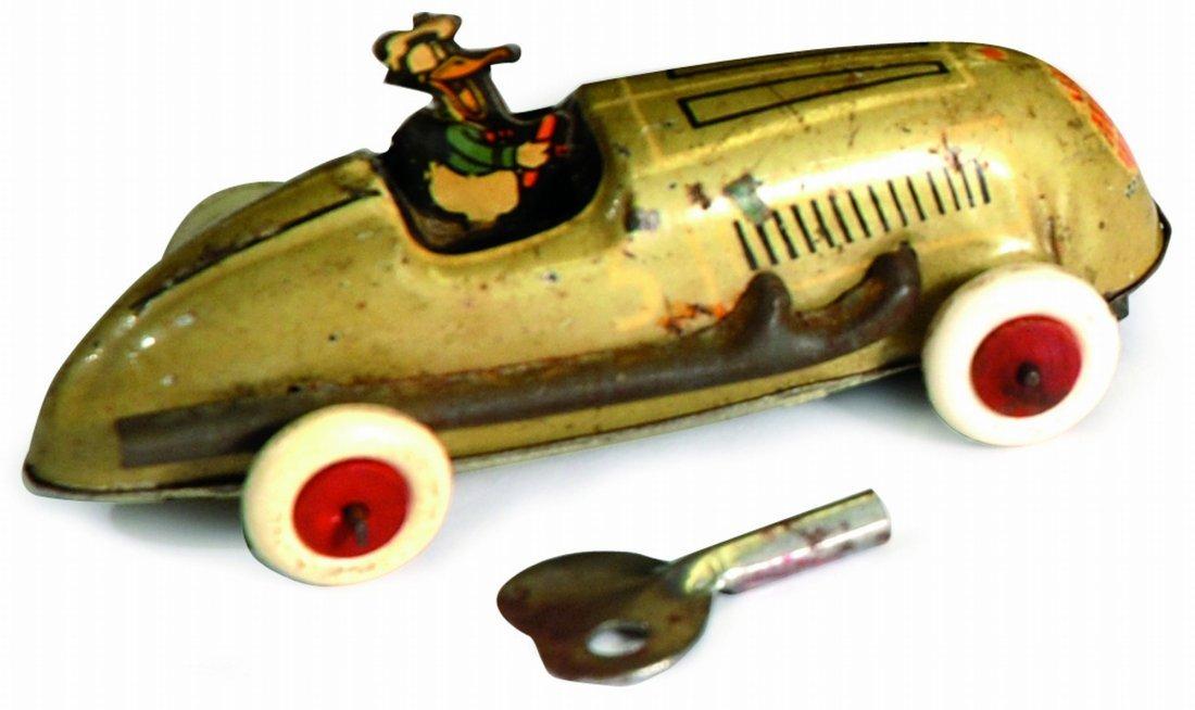 Donald Duck Racing Car