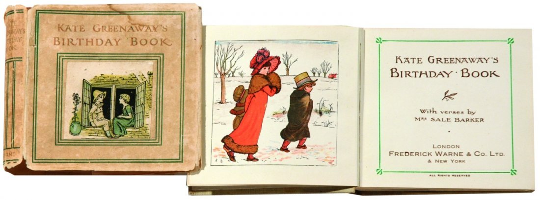 Kate Greenaway Birthday Book with verses by Mrs. Sale