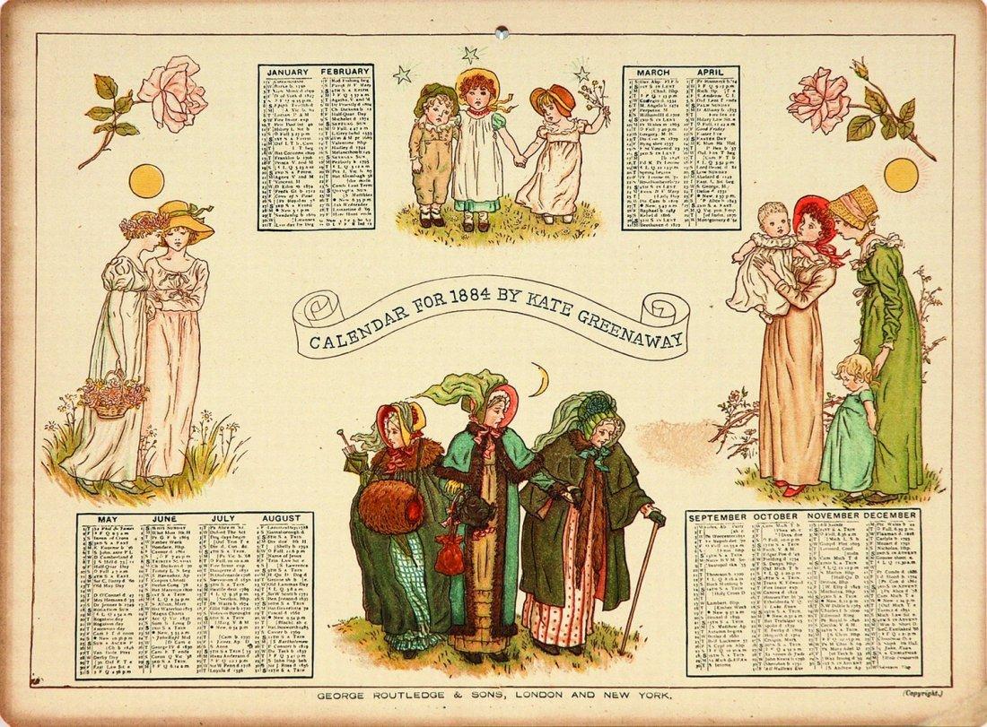Kate Greenaway Calendar for 1884