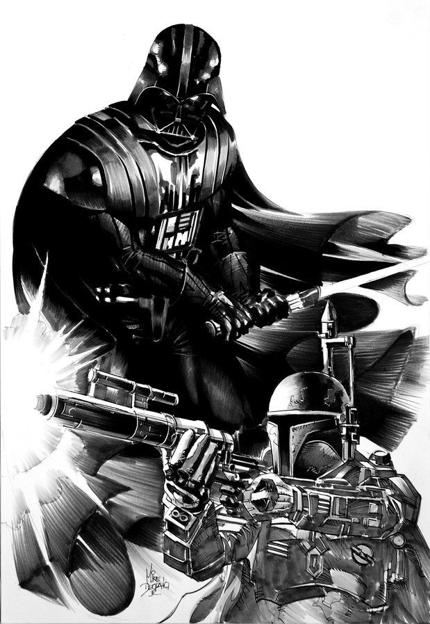 MIKE DEODATO JR. Star Wars - Darth Vader e Boba Fett