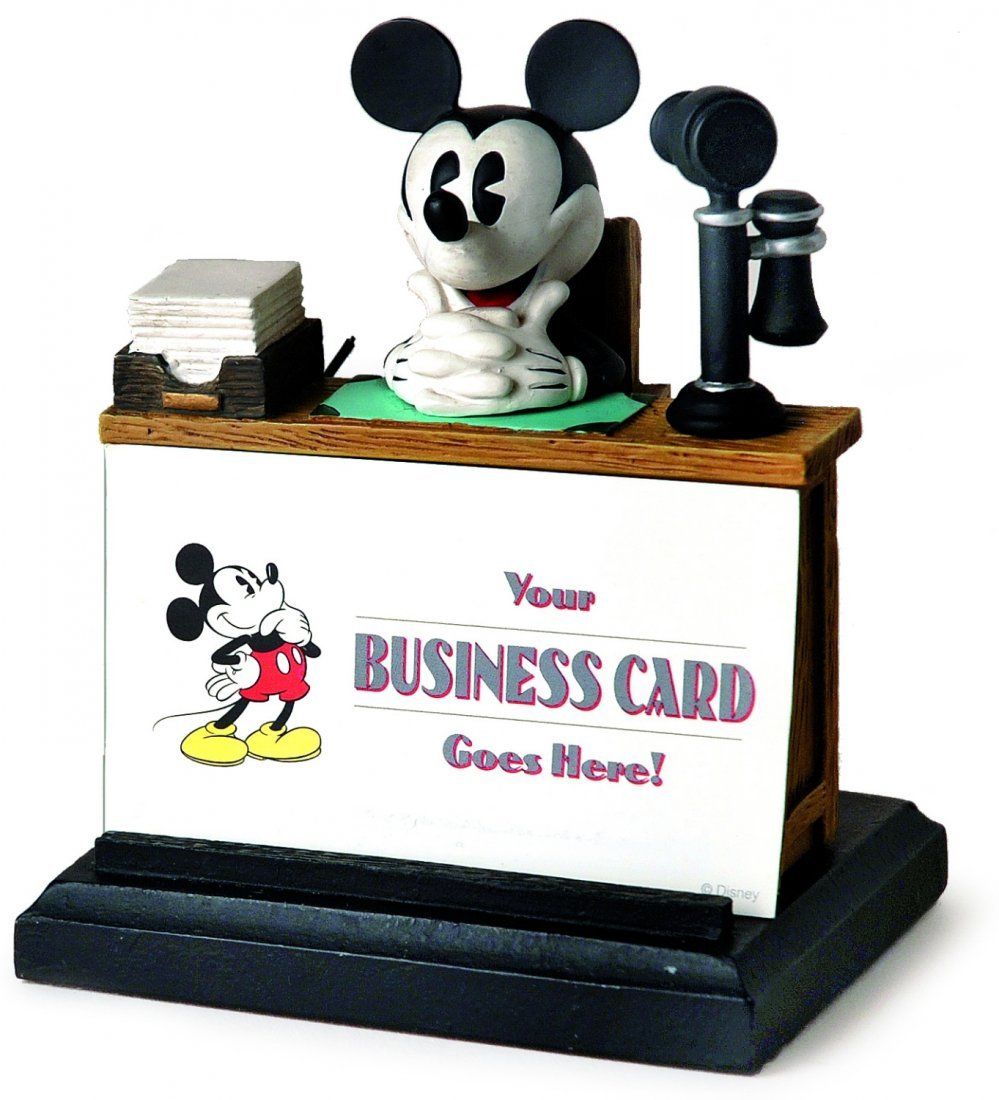 Mouse business card holder