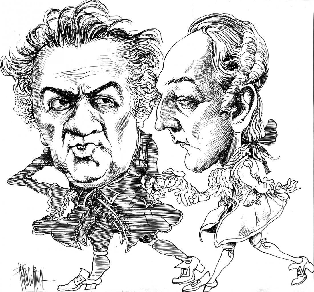 Franco Bruna - Federico Fellini e Donald Sutherland nei