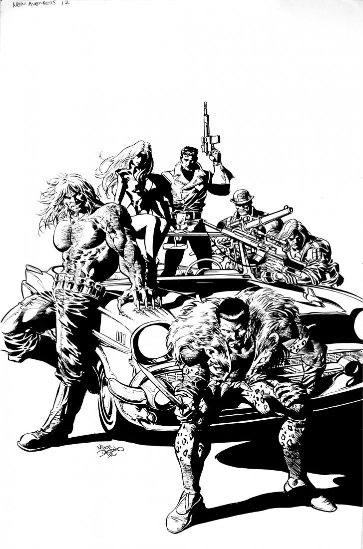 Mike Deodato jr - New avengers 1959 #10